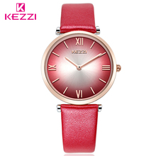 KEZZI Brand Vintage Roman Scale Fashion Quartz Watches Ladies Hands Leather Dress Waterproof Wrist Watch Gifts(China)