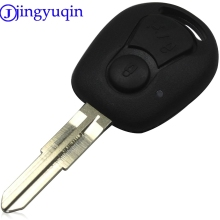 jingyuqin 2 Buttons Remove Key Case Shell Fob Styling For SSANGYONG ACTYON KYRON REXTON Uncut Blade Key Fob Cover Replacement(China)
