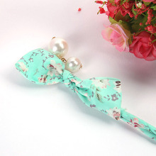New Hot Fashion Headwear Plate Hair Device Chiffon Floral Pearl Bow Plate Head Flower Elastic Rubber Band for Women Girl Gift(China)