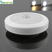 LemonBest Magnetic Night Lamp Infrared IR Bright Motion Sensor Activated LED Wireless Wall Light Battery Operated for Hallway