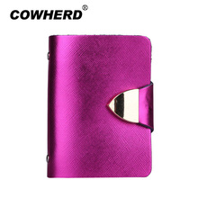 2017 New Unisex Genuine Cow Leather Fold Design Multiple Card Slots High Quality Credit Card ID Business Card Holder CH001(China)