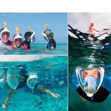 Drop Ship 2017 Full Face Underwater Scuba Anti Fog Diving Mask Snorkeling Set with Earplug Respiratory masks Safe and waterproof(China)
