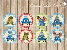 Little Blue Truck triangle cupcake toppers,Birthday Party Decorations kids Sticker / Label for Birthday,Baby Shower Candy Bar(China)