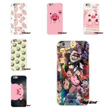 For Huawei G7 G8 P8 P9 Lite Honor 5X 5C 6X Mate 7 8 9 Y3 Y5 Y6 II Kawaii Pink pato gravity falls Soft Silicone Case