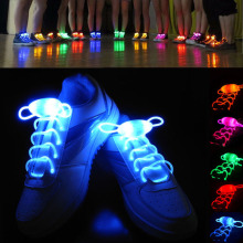 80cm/31.4'' LED Flash Light Up Shoelaces Shoe Laces Glow Stick Shoestring Strap Disco Party