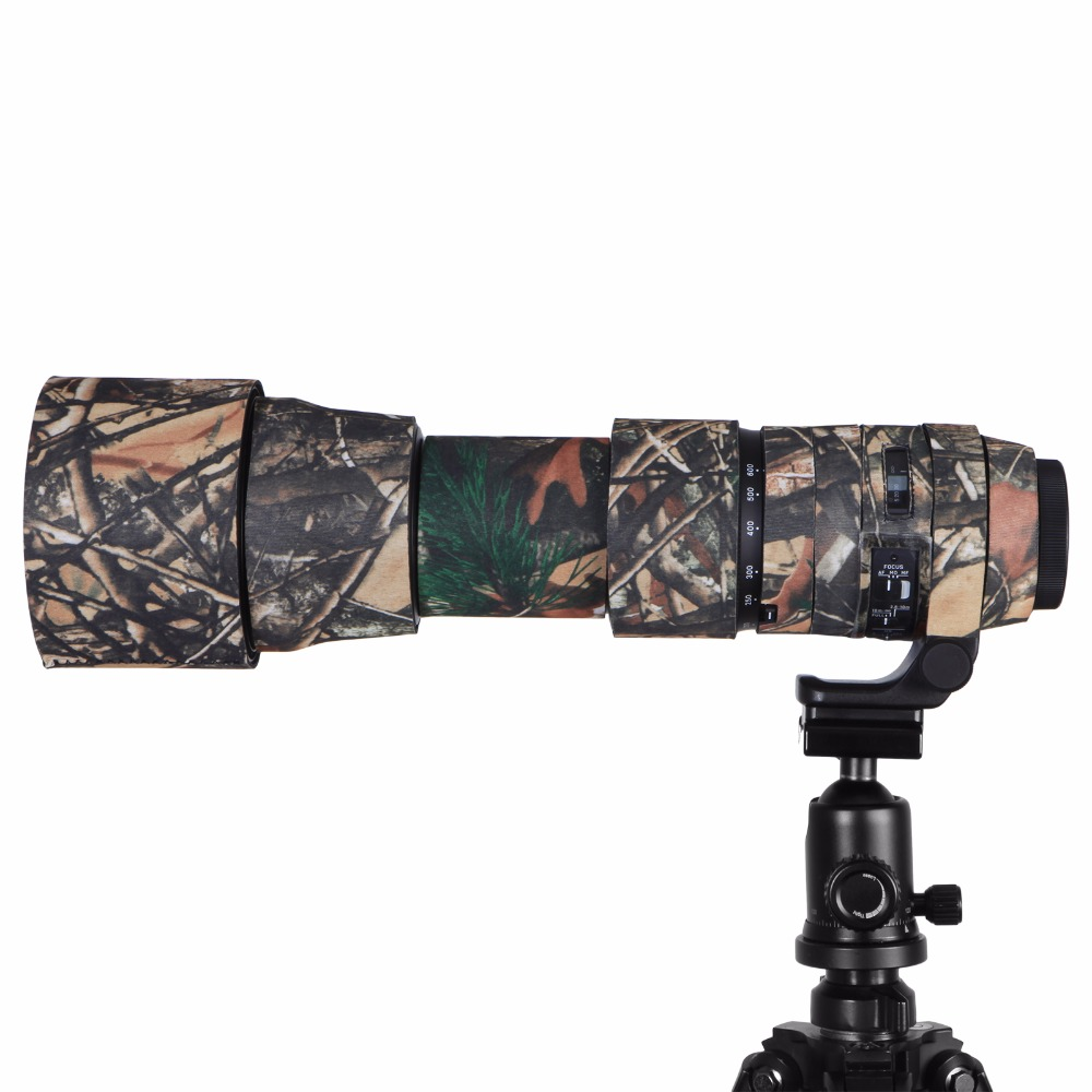 Contemporary Rubber Camouflage Neoprene Lens Coat Waterproof Lens Protective Coat Cover Camo Case For Sigma 150-600mm C version (10)