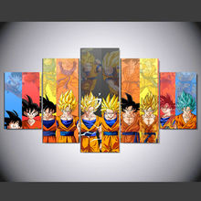 5 Pieces Cartoon Dragon Ball Z Goku Evolution Modern Home Wall Decor Canvas Picture Art HD Print Painting On Canvas kn-05