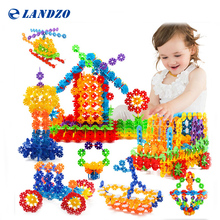 3D Puzzle Jigsaw Plastic Snowflake Building Blocks Building Model Puzzle Educational Toys For Kids 118 Pcs(China)