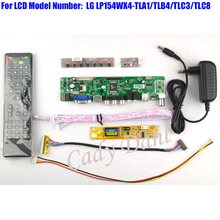 HDMI CVBS RF USB VGA AV TV Controller Board + Inverter + Lvds Cable + Remote for LP154WX4 TLA1 TLB4 1280x800 1ch 6 bit LCD Panel