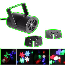 mini Gobo projector lamp multicolor led disco bulb/party Christmas holiday light projector four colors(China)