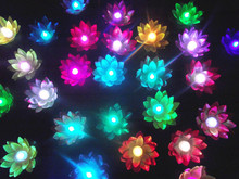 LED Colorful Changed Artificial Lotus flower Lamp Floating Water flower swimming Pool Wishing Light Lamps Lanterns Party supply