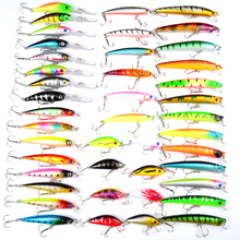 Hot 2017 43pcs/lot fishing lure Mixed 6 models fishing tackle 43color Minnow lure Crank Lures Mix fishing bait
