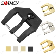 ZLIMSN Stainless Steel Watch Buckle Solid Silver Gold Brushed Skull Watchbands Band Strap Screw-In Clasp 20 22 24 26mm K55(China)