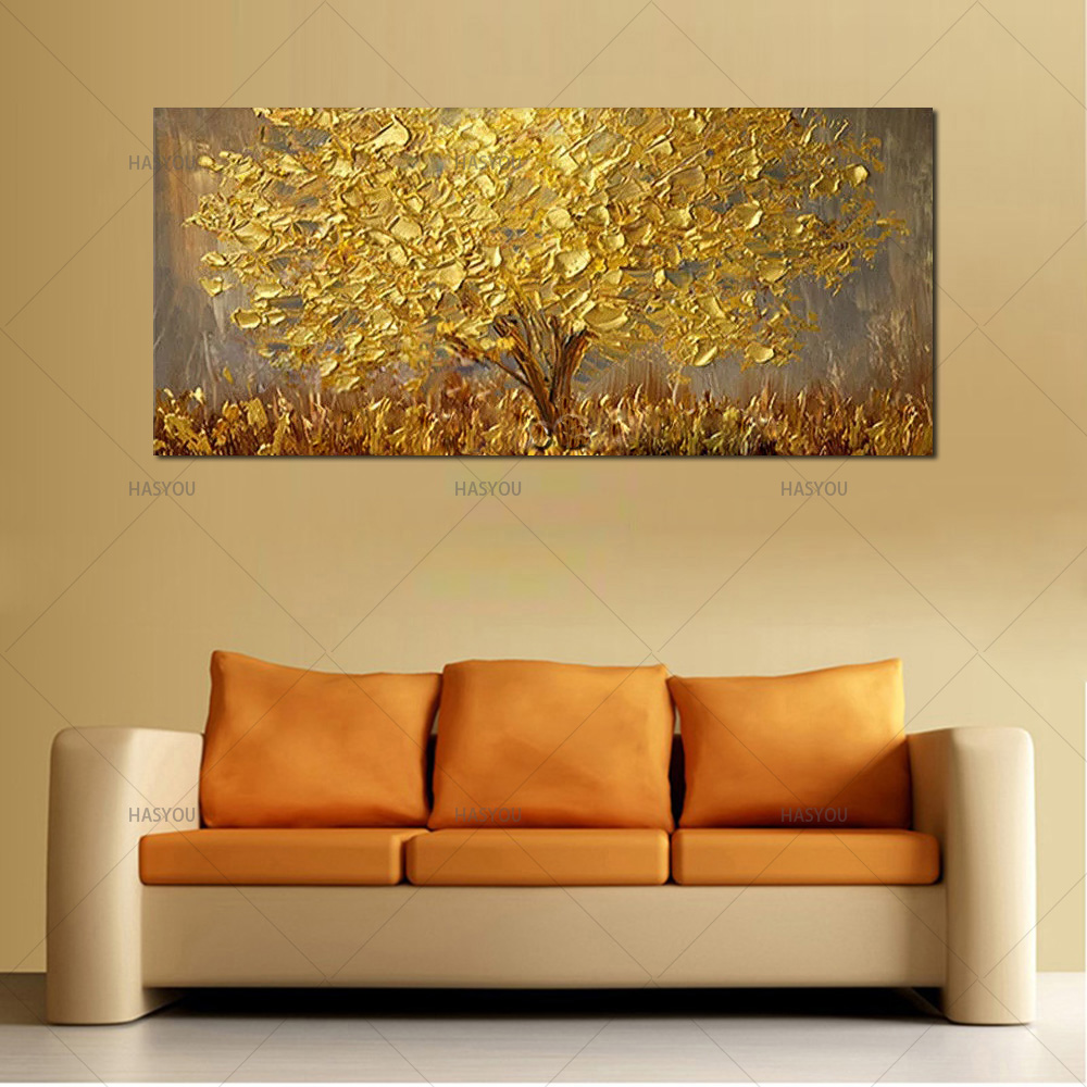 2018 Handmade Modern Abstract Landscape Oil Paintings On Canvas Wall ...