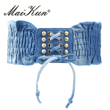 2017 Fashion Elastic Dresses Belts for Women European Style Stretchy Women Belts all-match Corset Waist Belts(China)