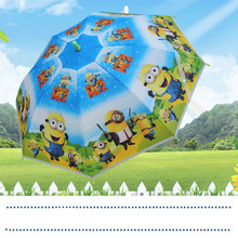 2017 Hot Sale Children Clear CARTOON KIDS UMBRELLAS Transperant Bubble Fancy BABY Child Rain Umbrella GIFT for Boys and Girls
