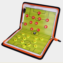 2018 New design Soccer home match Magnetic tactical football board Coach kits fold zipper Training Tactical Plate football tools(China)