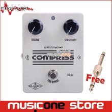 Biyang CO-12 Guitar pedal Control Level Sensitivity Electric Guitar Effect Pedal True Bypass Effect Pedal White