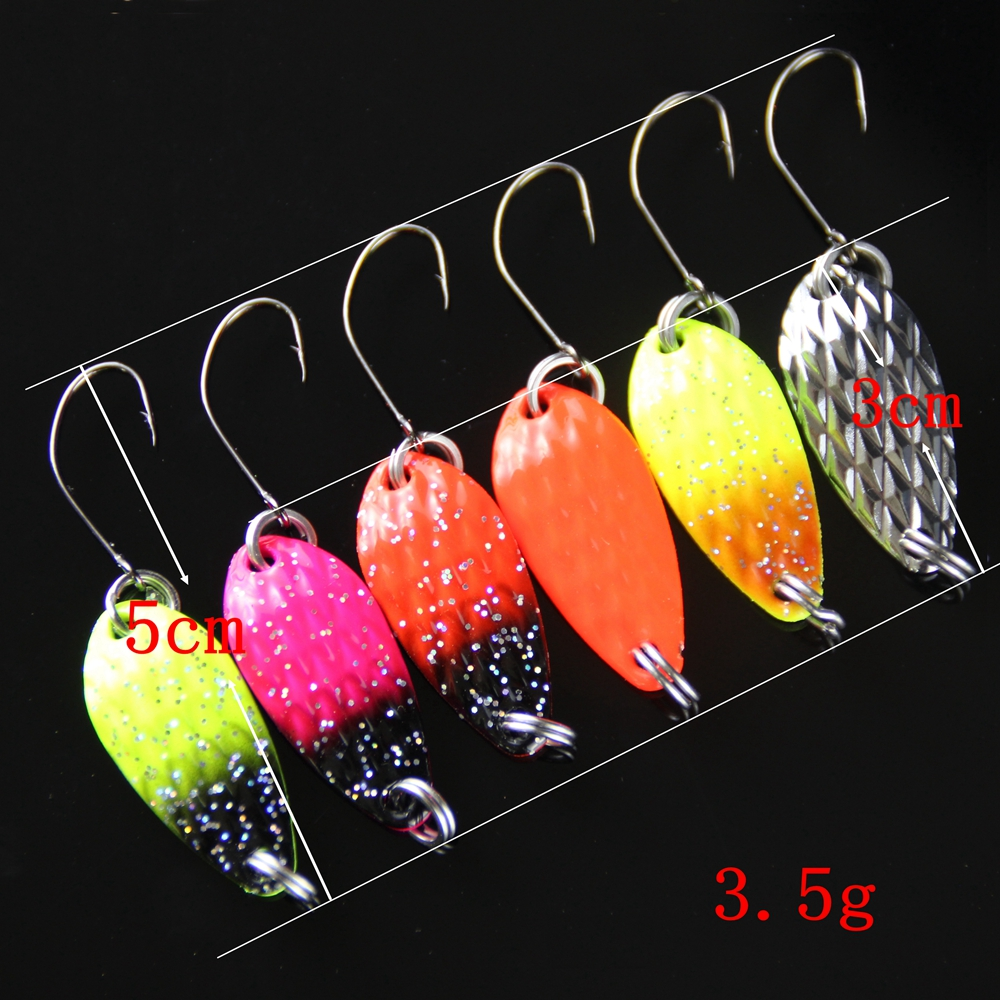 8pcs Fishing Lure Spoon 3cm 3.5g Hard Bait Metal Lures Isca Artificial Wobbler Micro Trout Spoon Bait Fishing Tackle Pesca 1 (2)