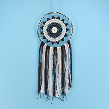 New Fashion Gift India White Black Lace Dreamcatcher Wind Chimes Indian Style Feather Pendant Dream Catcher Regalo Amor(China)