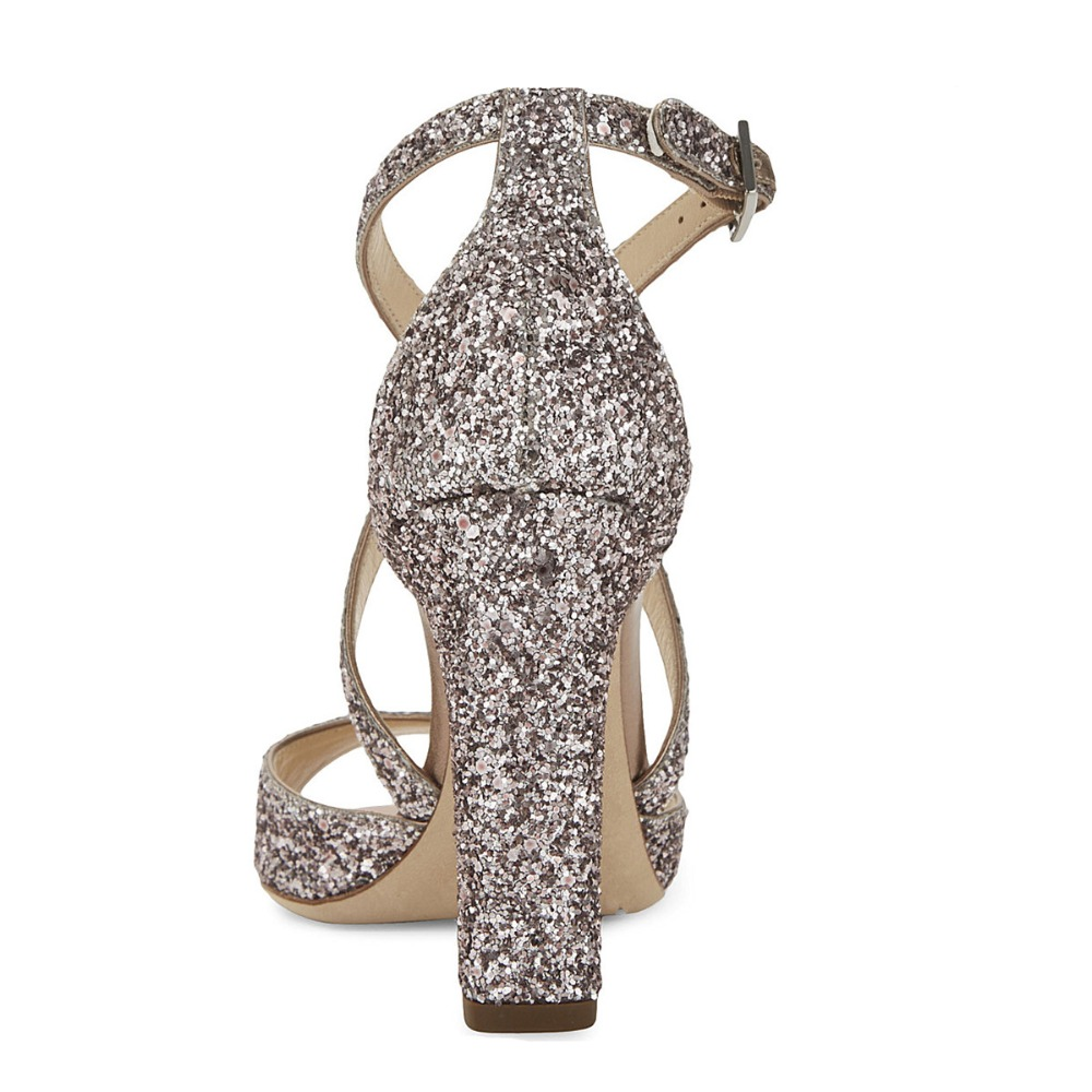 2017 New Sexy Party Wedding High Heel Platform Summer Lady Women Sandals Gladiator Fashion Square heel Sequins sandals Party  <br><br>Aliexpress