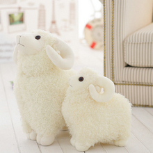 Cute White Sheep Plush Toy Lovely Doll Birthday Gift for Children Baby