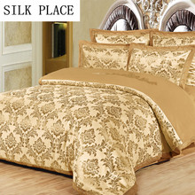 SILK PLACE Bedclothes Noble Bedding Kit Best Cotton Duvet Quilt Covers Bed Sheet Coverlet Bed Cover King Queen Size Bedspreads
