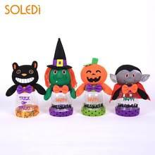 halloween candy jar halloween cookie can novelty plastic transparent ornament window show office desktop drop shipping