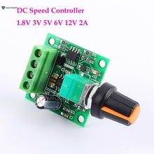 DC New 1.8V 3V 5V 6V 12V 2A Low Voltage Motor Speed Controller PWM 1803B Self-recovery Fuse 0%-100%