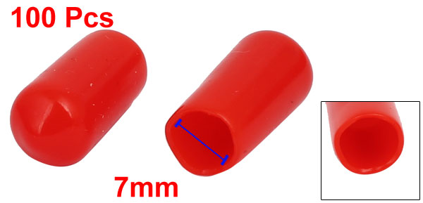 uxcell 20pcs Rubber End Caps 34mm ID Vinyl Round End Cap Cover Screw Thread Protectors Red
