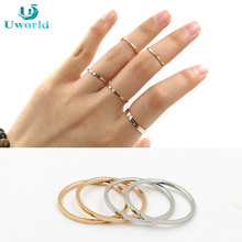 hot sale simple new design female ring cute thin forefinger tail rose gold ring for women