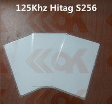 rfid smatr card 5000pcs Hitag S256 blank smart card 125khz printable id card Hitag S256 rfid card
