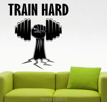 Mad World-Train Hard Sports Gym Fitness Wall Art Stickers Art Home Decoration Wall Decals Removable Bedroom Decor Wall Stickers