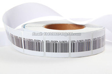 1000pcs/lot EAS soft label for supermarket alarm gate checkpoint soft label 8.2mhz 4*4cm eas rf sticker with barcode