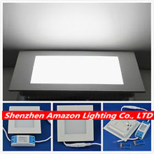 15W LED Panel Light Square Recessed Ceiling Light With Power Adapter For kitchen bathroom illumination