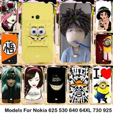 Silicone Plastic For Nokia Lumia 625 N625 625H 530 N530 640 N640 640XL N640XL 730 N730 735  925 N925 Cases Phone Accessories