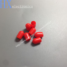 Free shipping 200PCS/LOT New Arrival Plastic covers Dust cap Red for RF SMA female connector(China)