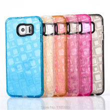 2016 Square Crystal Clear Soft TPU Silicone Case Cover For Samsung Galaxy J5 J510 J7 J710 Mobile Phone Cases