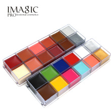 IMAGIC 12 Colors Flash Tattoo Face Body Paint Oil Painting Art use in Halloween Party Fancy Dress Beauty Makeup Tool(China)