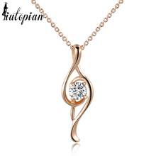 Iutopian Brand New Arrival Musical Note Pendant Necklace Colar With Top Quality Cubic Zirconia #RG76444(China)