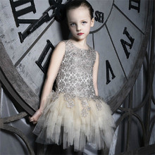 Mother Daughter Dresses Girls Princess Wedding Dress Luxury Design Newest  Brand Mother and Daughter Clothes Flower Ball Gown