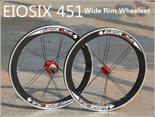 EIOSIX BMX Wheelset 451 22inch Folding Bike Wheel S90 Wide Rims 48ring 74/130mm BMX Parts