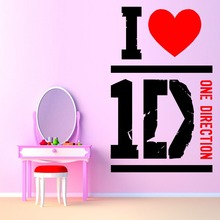 N187 I LOVE ONE DIRECTION 1D music themed Adesivo Decoration Wall Art Decor Wall Stickers Home decor
