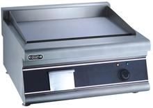 High quality stainless steel restaurant hotel countertop flat eletric griddle 220v frying food catering equipment supplier(China)