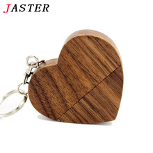 JASTER wooden Heart USB Flash Drive Pendrive 64GB 32GB 16GB 8GB U Disk USB 2.0 Memory Stick logo for photography wedding gifts