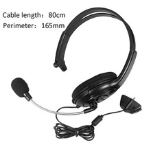 Buy Xbox One Game Accessory Wired Chat Headset Game Headphones Microphone Wired 80cm Cable Single Side Earphone Microsoft for $8.80 in AliExpress store