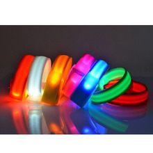 Party Birthday Decoration Led Flashing Bracelets Waterproof  Glow Bracelet Strip Velcro Wrist strap Chritmas Halloween