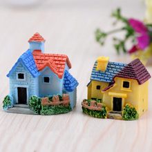 Woodland Mini Castle Fairy Garden Miniatures Castles Terrarium Figurines Garden Decoration Miniature House villa Fairy Figurines(China)