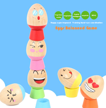 Free Shipping Balance Stacking Game Egg Blocks Wooden Toys Children's Birthday Present Intelligence Creative Plaything