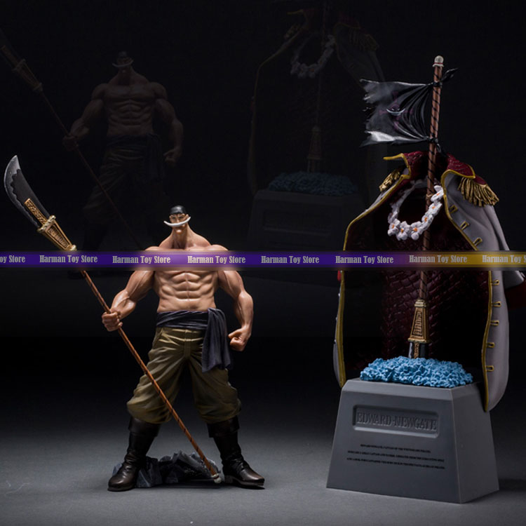 20cm Japanese classic anime figure one piece Edward Newgate&amp;tombstone action figure set collectible model toys for boys<br>